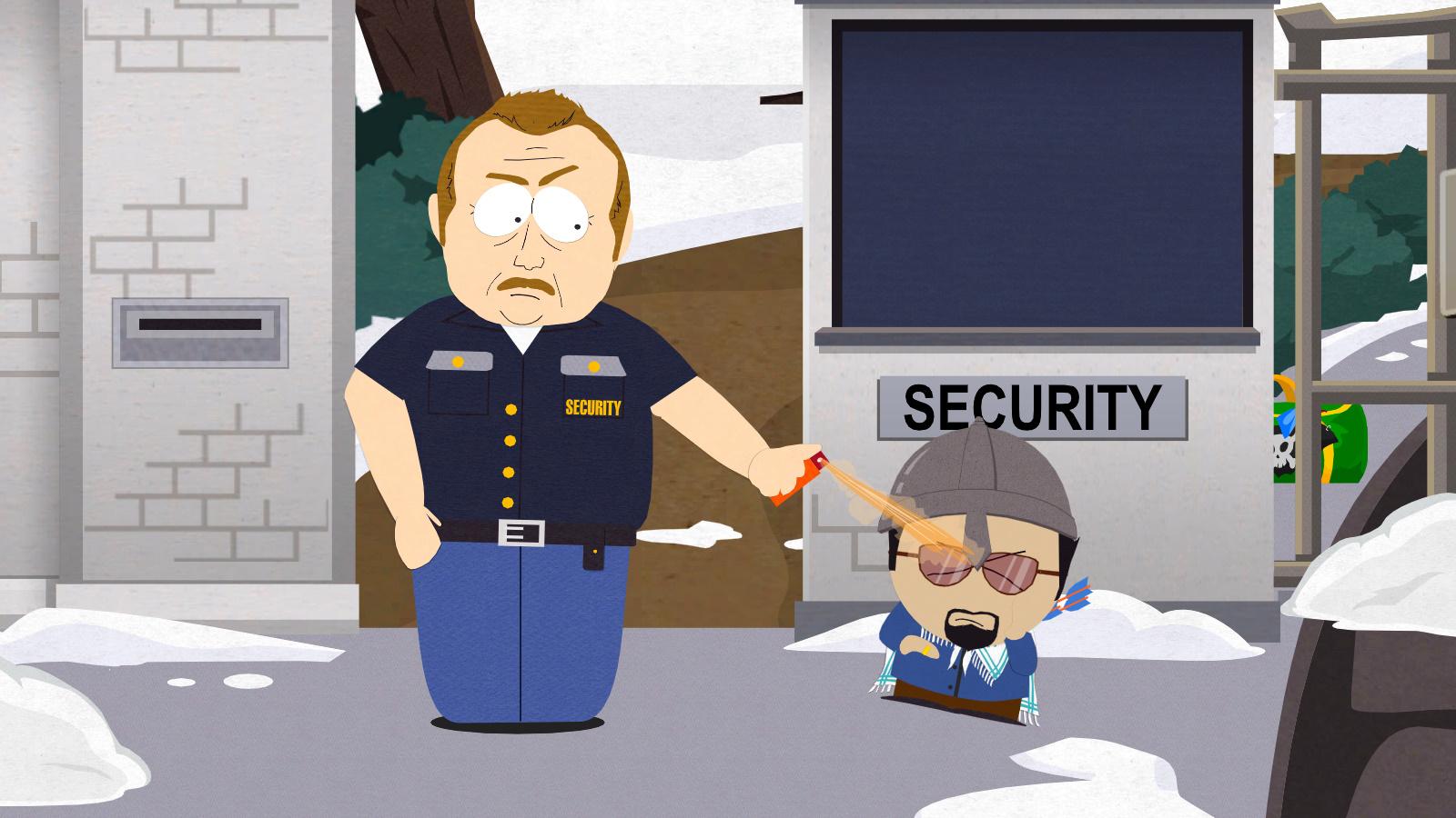 Охранники в Южном Парке настолько суровы, что...